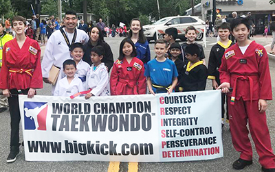 World Champion Taekwondo, Westport, at the Memorial Day Parade